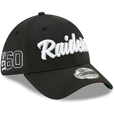 2019 Oakland Raiders New Era 39THIRTY NFL Sideline Home On Field Cap Hat 1960s