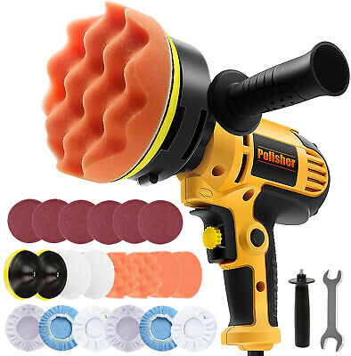 """6"""" 680W Electric Car Polisher Buffer Sander Dual Action Wax Tool Variable Speed"""