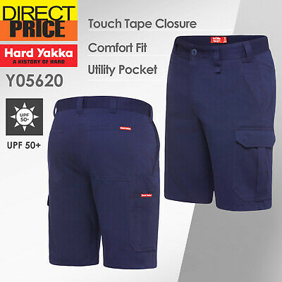 Hard Yakka Work Shorts Heavy Duty Cargo Drill Short Y05620 Navy NEW
