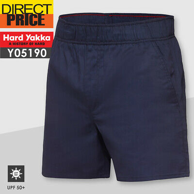 Hard Yakka Work Shorts Elastic Waist Foundations Drill Short Y05545 NEW