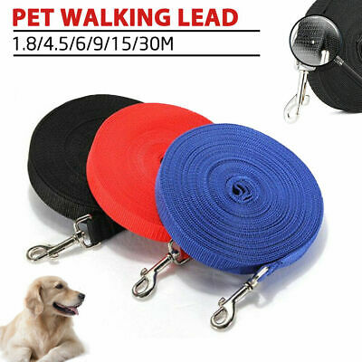 1.8/4.5/6/9/15/30 Meters Long Dog Pet Puppy Training Obedience Recall Lead Leash