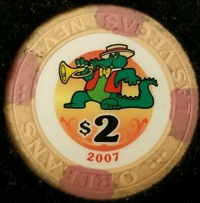 $2 Casino Orleans Chip Poker Las Vegas, Nevada NV Gaming Hotel Drop
