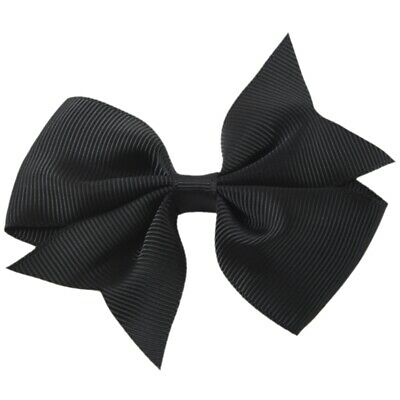20pcs Big Hair Bows Boutique Girls Alligator Clip Grosgrain Ribbon Headband B6V3