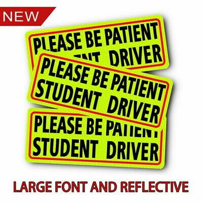 Please Be Patient Student Driver Safety Sign Car Vehicle Sticker Bumper NEW