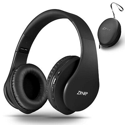 Bluetooth Over-Ear Headphones - Foldable - Wireless and Wired - Black
