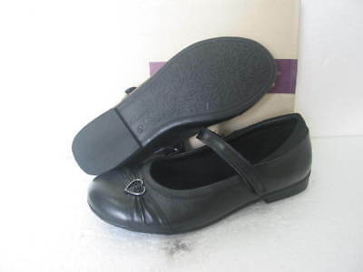 New Clarks Girls Dolly Up Black Patent Leather School Shoe F /& G Fitting