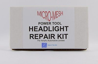 Micro-Mesh - Acrylic Vehicle Headlight Repair Kit for use with Cordless Drill