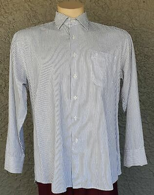 Pinstriped Cotton shirt by 'Montajut of Paris', size L