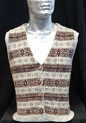 Knitted vest, wool, 1950's size M