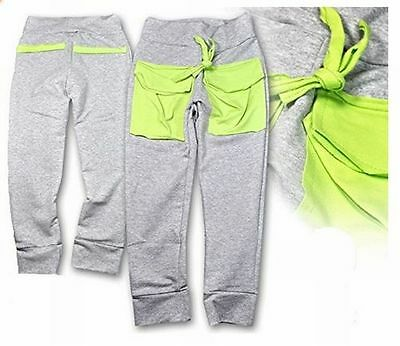 Sweat Pants Jogging Trousers Leisure Sweatpants Cotton Grey/Green Age 2-6 Years