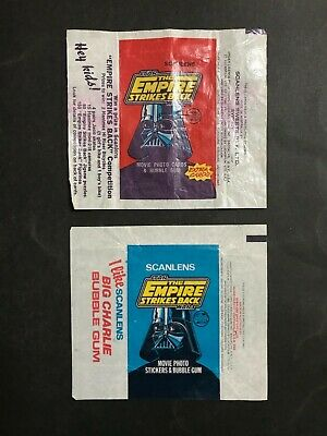 Scanlens Star Wars The Empire Strikes Back Card & Sticker Wax Wrappers