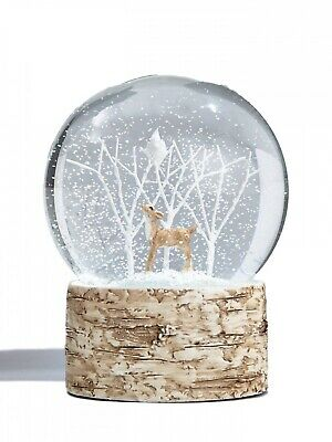Gisela Graham Christmas Deer Bird Tree Woodland Reindeer Snowglobe Snow dome