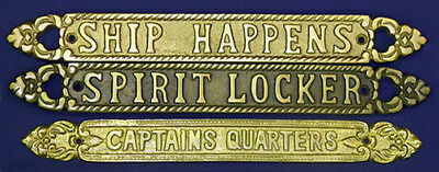 Solid Aluminum/Brass Antique Finish Wall/Door Plaques/Signs ~ Selections