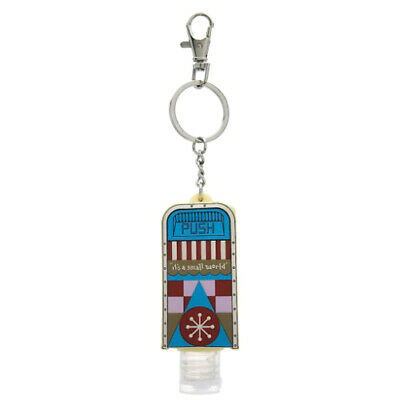 Disney Parks Its a Small World Trash Can Hand Sanitizer Key Chain New