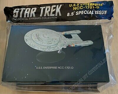 "Star Trek USS Enterprise NCC-1701-D Special Issue XL 8.5"" w/ Magazine Eaglemoss"