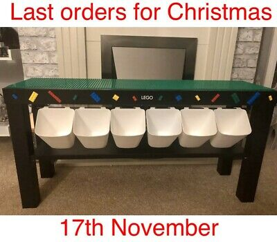 Children's Baseplates Construction Play Table Storage Build Compatible with Lego