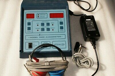 Ambco 1000 Audiometer Hearing Test Pitch/Tone Generator with Headset