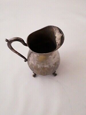Silver Water Pitcher with Ice Lip & Claw Feet