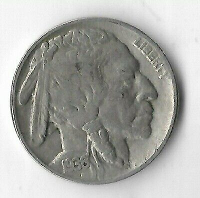 Rare Antique 1936 US Buffalo Indian Nickel Collection Great Depression Coin G8