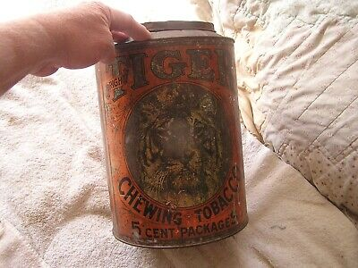 Vintage Tiger Chewing Tobacco Tin
