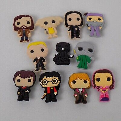 11 piece Lot Harry Potter PVC Shoes Charms Jibbitz Wristbands Gift Voldemort