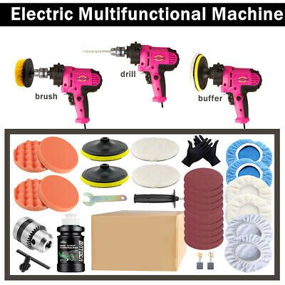 "UK 6"" 680W Electric Car Polisher Dual Action Buffer Sander Waxing Machine Kit"