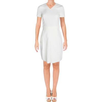 BOSS Hugo Boss Womens Dylena Ivory Belted V-Neck Wear to Work Dress 6 BHFO 7492