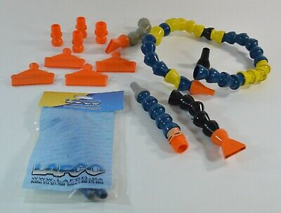 "Lot of Loc-Line Hoses & Adapters NPT 2.5"" Nozzles Tips Orange Blue Yellow"