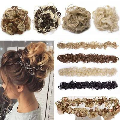 Real LARGE Messy Bun Scrunchie Hairpiece 100% Natural Hair Extension As Human US