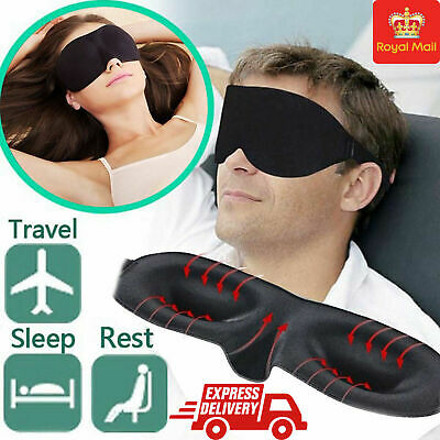 3D Eye Sleeping Mask For Travel Soft Cover Blinder Blindfold Shade Resting Aid