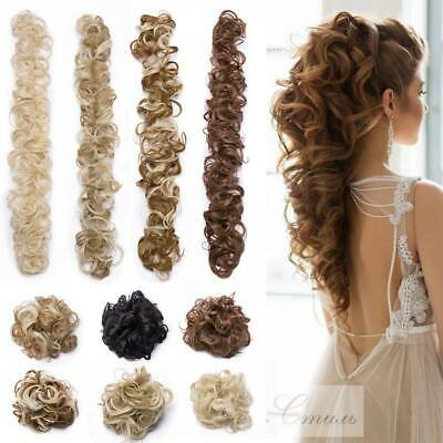 Real Thick Scrunchie Messy Bun Hair Piece 100% Natural Ponytail Hair Extensions