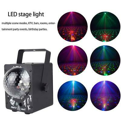 LED RGB Stage Effect Light Lamp Laser Crystal Magic Ball Xmas Party Disco Club