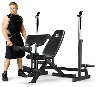 Marcy Deluxe Olympic Weight Bench.