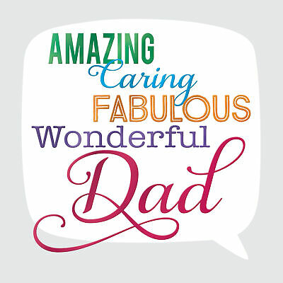 Amazing Dad Father's Day Square Script Greeting Card Foiled Greetings Cards