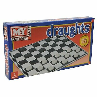 Classic Draughts Checkers Board Game Family Kids Traditional Folding Board Game