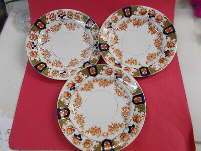 LOVELY ROYAL STAFFORD PLATES ENGLISH BONE CHINA MADE IN ENGLAND x 3 # 522