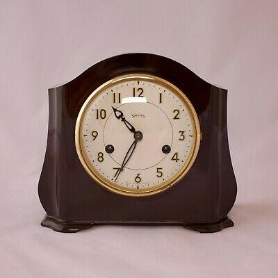 Bakelite Smiths Enfield 8 Day Striking Mantel Clock Serviced
