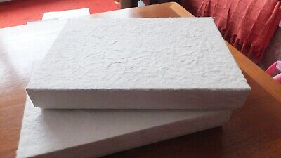 2 x strong A4 sized storage boxes, cream