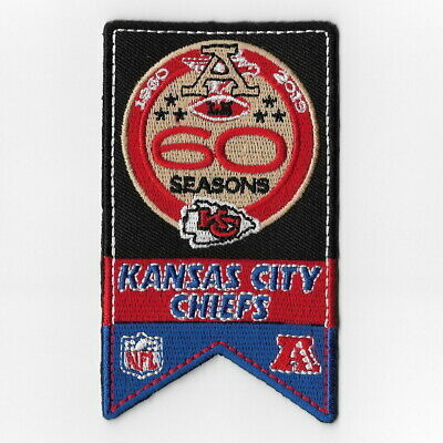 Kansas City Chiefs 60th Seasons Iron on Patches Embroidered Patch 1960 Flag FN