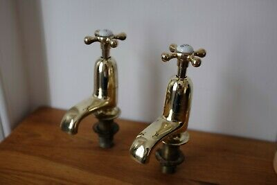 Old Brass bathroom bath / basin taps refurbished reclaimed