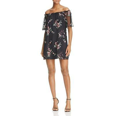 BB Dakota Womens Floral Print Off-The-Shoulder Casual Dress BHFO 4129