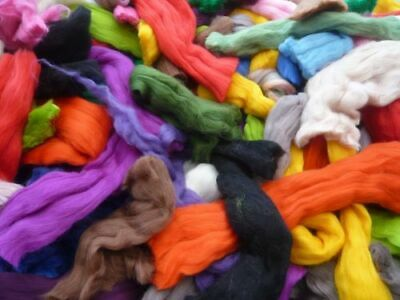 Heidifeathers® Merino Felting Wool Scraps Packs - Felting and Spinning