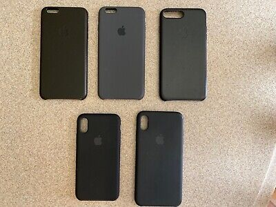 GENUINE Apple Silicone / Leather Cases for iPhone Lot PREOWNED