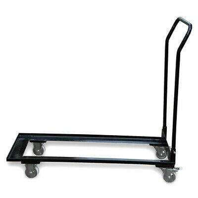 Heavy Duty Chair Cart Black Steel Storage Dolly Stack Up To 50 Folding Chairs