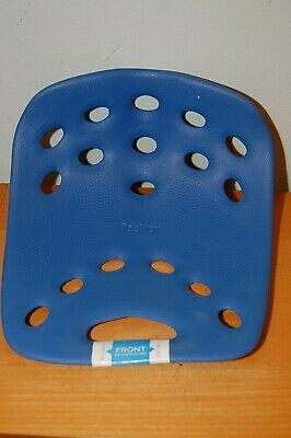 BackJoy Posture Seat Cushion Pain Relief Lumbar Support- Blue