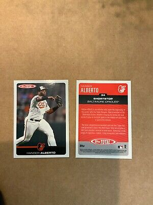 Baltimore Orioles HANSER ALBERTO  2019 Topps Total Card #34 Wave 1