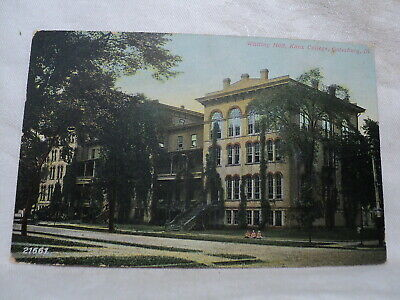 GALESBURG IL Illinois Knox College Whiting Hall early 1900's  Postcard