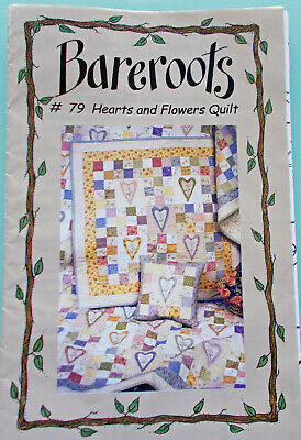 """""""BAREROOTS"""" QUILT BOOKLET """"HEARTS & FLOWERS"""" - all appliques and instructions"""
