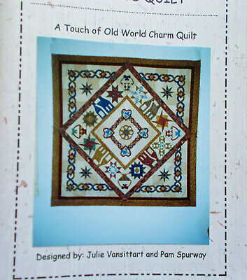 """""""A TOUCH OF OLD WORLD CHARM"""" quilt booklet with all appliques and instructions"""