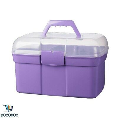 Plastic Sewing Box Thread Holder Container Storage Materials Organiser Handle